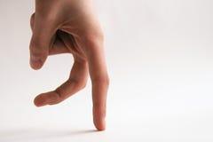 手指走 库存图片