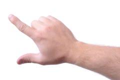 手指重击 免版税库存图片
