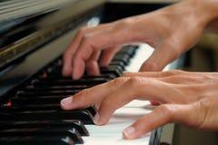 手指钢琴 免版税库存照片