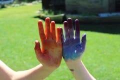 手指画法 库存图片