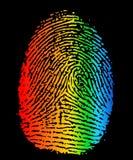 手指lgbt打印 免版税库存照片