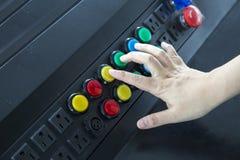 手控制工厂在船上 免版税库存照片