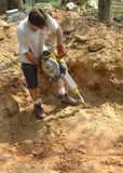 手提凿岩机 库存照片