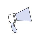手提式扬声机广告标志 免版税库存图片