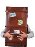 手提箱旅行 免版税库存照片