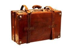 手提箱葡萄酒 库存图片