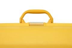 手提箱黄色 免版税库存图片