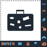 手提箱,旅行平展行李象 库存例证