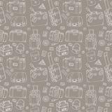 手提箱 无缝的背景 免版税图库摄影