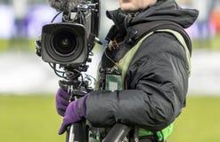 手摄象机操作员 库存照片