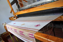 手摇纺织机 库存图片