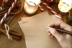 手文字圣诞节 库存照片