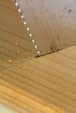 锯切木头 库存照片