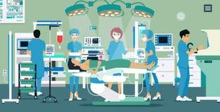 手术室 向量例证