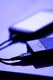 手机充电器 免版税库存照片