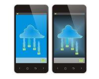 手机和云彩 库存图片