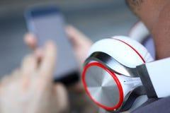 手机智能手机设备小配件 免版税库存照片