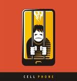 手机的创造性的海报设计 免版税库存照片