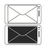 手机邮寄的消息象传染媒介模板 免版税图库摄影