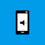 手机音乐声音象组装平的象 免版税图库摄影