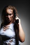 手枪严重的妇女 免版税图库摄影