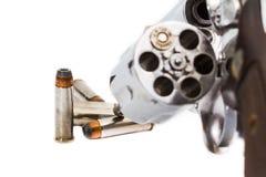 手枪左轮手枪用子弹 免版税库存图片