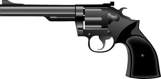 手枪左轮手枪 库存例证