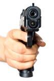 手枪指向了您 免版税库存照片