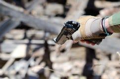 手枪目标目标 库存照片