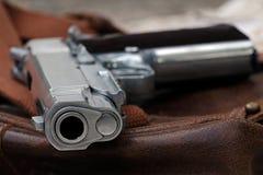 手枪,半自动 库存照片