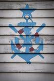 水手标志 免版税图库摄影