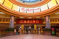 手段世界的圣淘沙赌博娱乐场在新加坡 免版税图库摄影