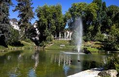 手段公园在Marianske Lazne 免版税图库摄影