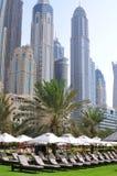 手段在迪拜海滨广场,阿拉伯联合酋长国 免版税库存图片