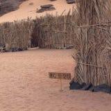 手段在Ubari沙漠 图库摄影
