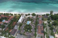 手段椰树LAPALM内格里尔牙买加 免版税图库摄影