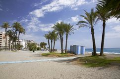 手段海滩,西班牙 免版税库存图片