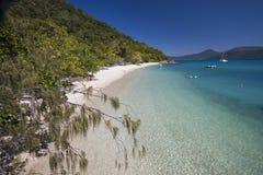 手段海滩, Fitzroy海岛 免版税库存照片