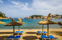 手段海滩, Port de索勒,马略卡 免版税库存图片