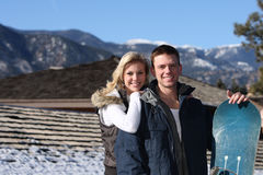 手段滑雪 库存照片
