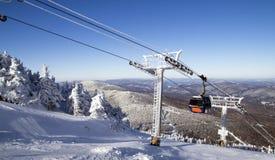 手段滑雪 图库摄影