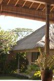 手段热带假期视图 库存图片