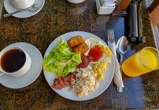 手段自助餐早餐 库存图片