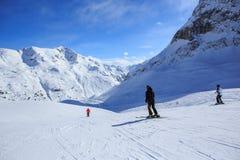 手段滑雪 免版税库存图片