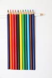 手段绘,色的铅笔 免版税库存照片