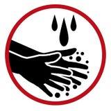 手洗的肥皂水清洗手象 免版税库存图片