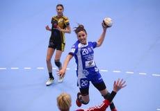 手球妇女的冠军同盟- CSM布加勒斯特对 ROSTOV-DON 免版税库存图片