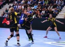 手球妇女的冠军同盟- CSM布加勒斯特对 ROSTOV-DON 免版税图库摄影