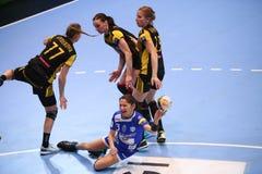 手球妇女的冠军同盟- CSM布加勒斯特对 ROSTOV-DON 库存图片