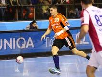 手球比赛马达扎波罗热对Kadetten沙夫豪森 库存照片